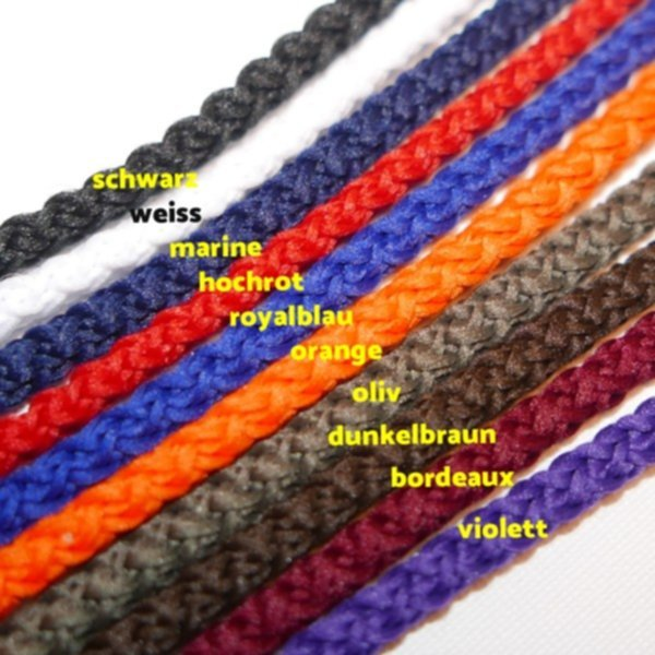 Kordel gewoben - 4mm - in 20 Farben - 100% PES