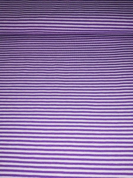 Swafing, Jersey Baumwolle, Streifen, lila, violett