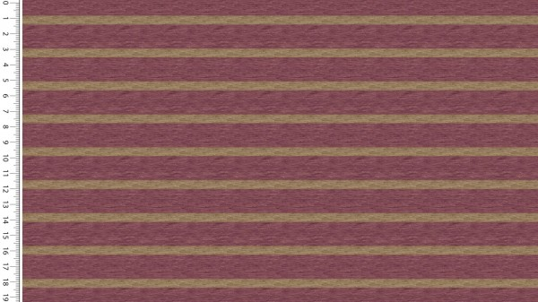 French Terry Digital Stripes - col.1718 dunkelrosa