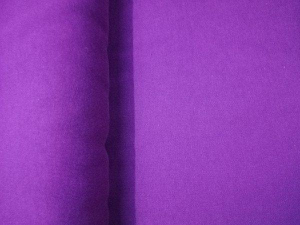 Sweat uni violett Baumwolle einseitig gerauht