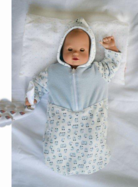 Anleitung & Schnittmuster für Puppen-Wintersack Eric