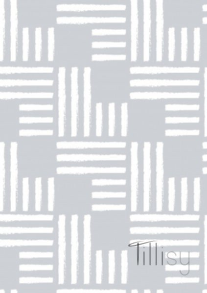 Canvas Struktur, hellblau-weiss, Tillisy, Streifenquadrate