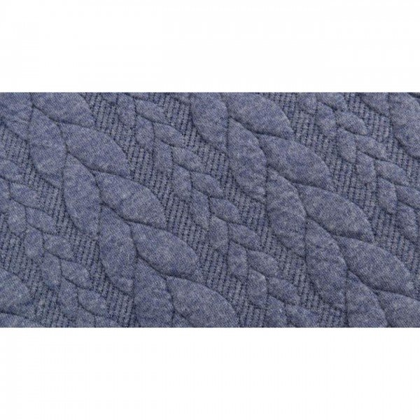 Cable: Sweat-Stoff mit Jaquard-Zopfmuster - col. 1107 jeans