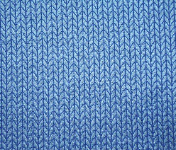 Albstoffe Knit Knit Jacquard-Jersey hellblau/blau