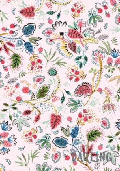 Jersey Baumwolle, Beeren und Blätter, Little Darling