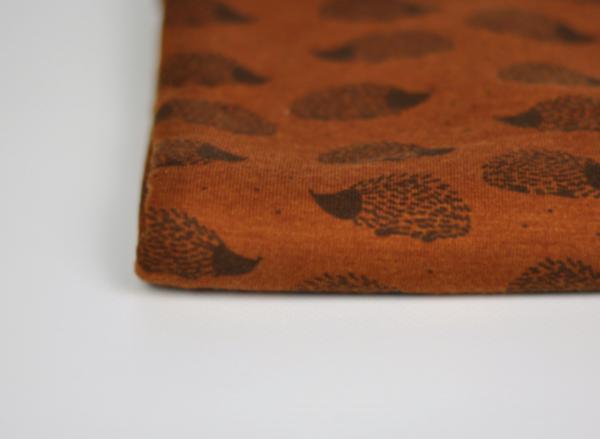 Bio Wolle/Seide Jersey - Igel auf Zimt