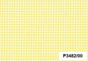 BW-Stoff Vichy Vichy-Karo weiss-gelb