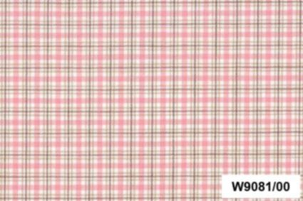 BW-Stoff Oxford Karo rosa, beige, natur