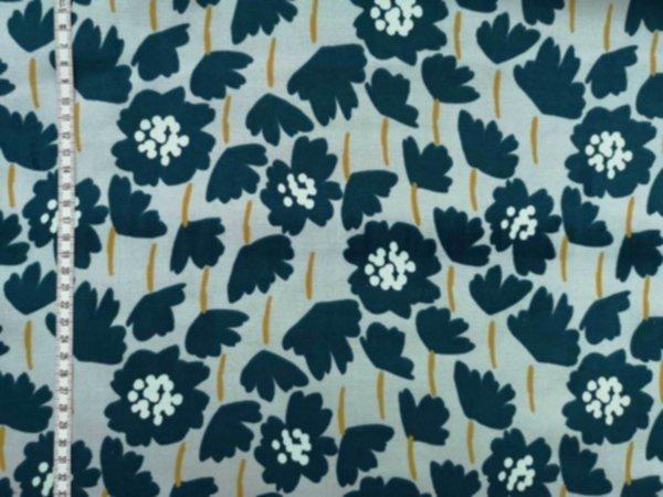 Velvet - Tillisy Blumen grau