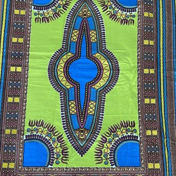Dashiki Print, Grün / Blau, Mustergrösse 118cm x 80cm