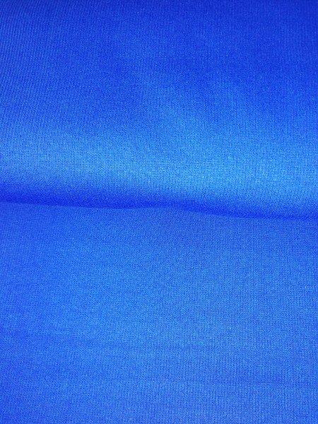 Bündchen Tricot im Schlauch uni gefärbt blau