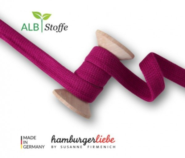 Cord ME uni, ciclamino, Flachkordel, Hamburger Liebe (Albstoffe) 2 cm