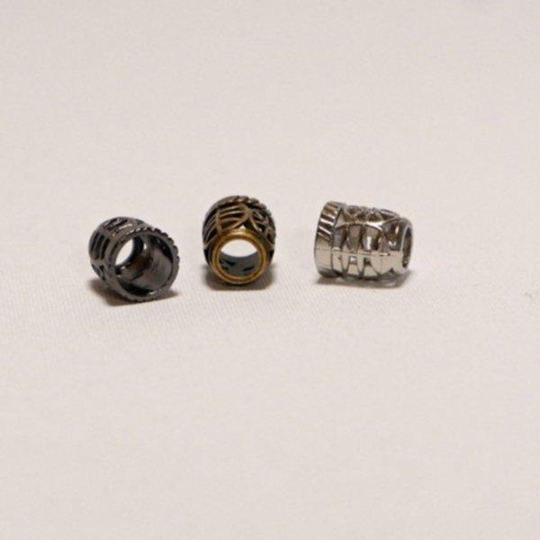 Kordel-Abschluss Metall - Filigran - in 3 Farben (für 9mm Kordeln)