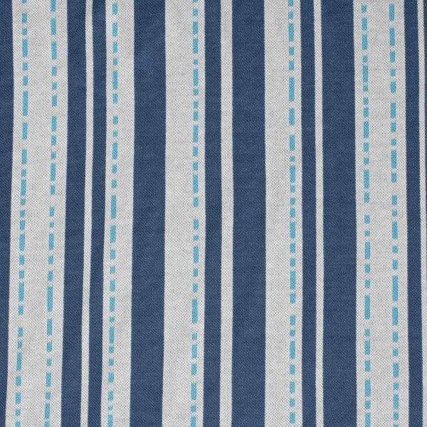 Jacquard Jersey Bloom Pin Stripes, blau-weiss, Hamburger Liebe (Albstoffe)
