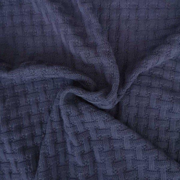 Grobstrick Sweet Home, Woven Knitty, navyblue, Hamburger Liebe (Albstoffe)