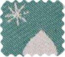 BW-Stoff Thule Herzen grün, weiss