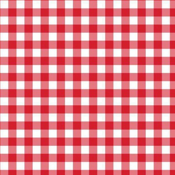 Baumwolle Design Check - col. 002 rot