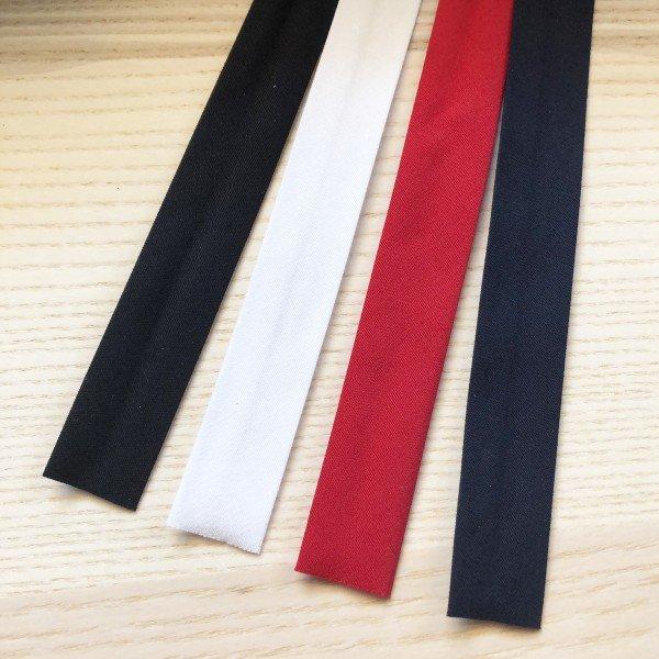 Elastisches Schrägband 18mm - in klassischen Farben