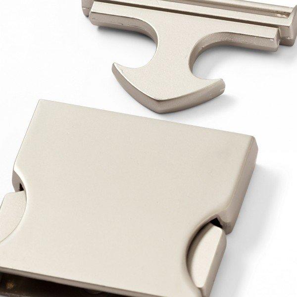 Gürtelschnalle,,30mm, silber matt