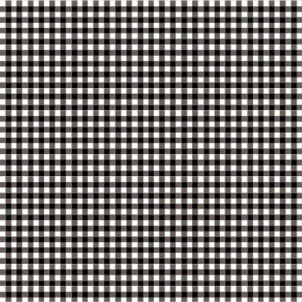 Baumwolle Design Check 2,7 mm 110 g/m² ca.144 cm col. 001 schwarz