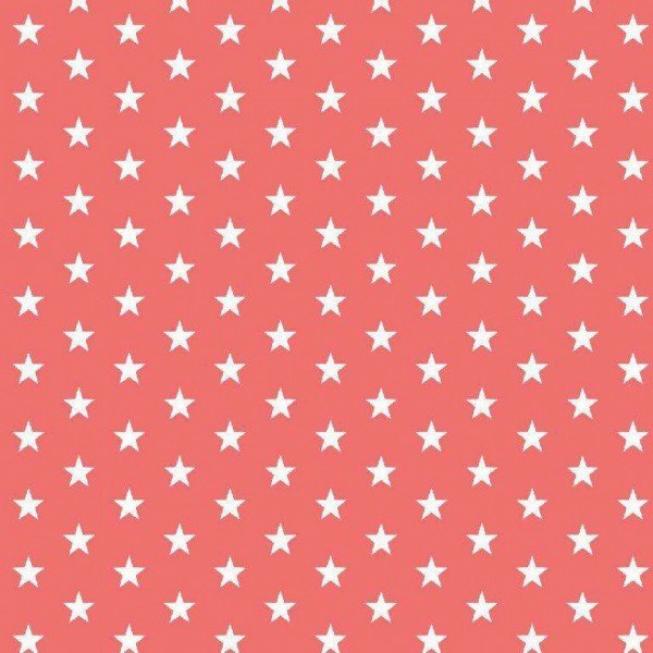 Baumwolle Design Petit Stars - col. 024 coral