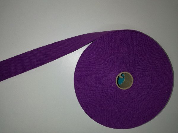 Taschengurtband 100% Baumwolle 4cm breit violett