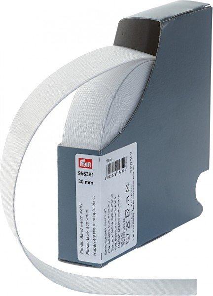 Elastic-Band weich, 30mm, weiss