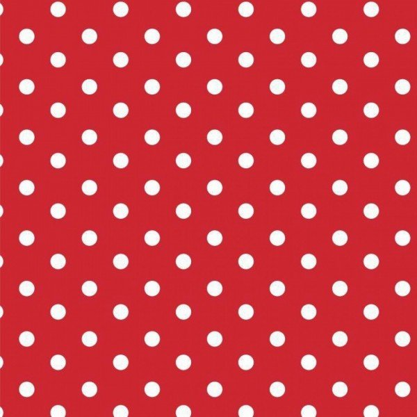 Baumwolle Design Dots - col. 004 rot