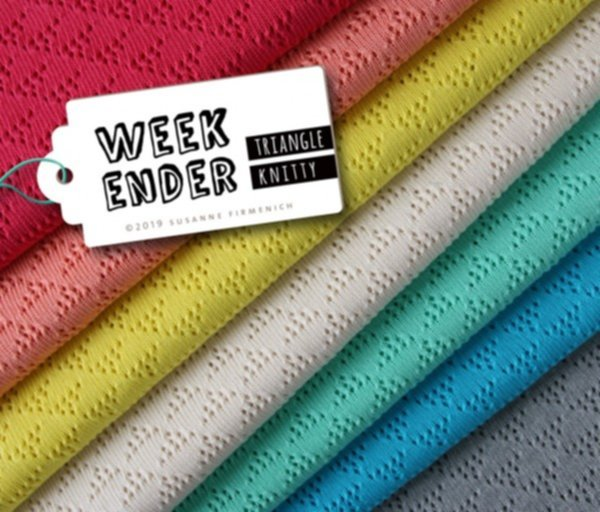 Strick Weekender Triangle Knitty, azalea, Hamburger Liebe