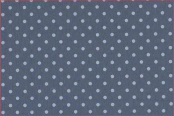 Jersey Punkte graublau-hellblau