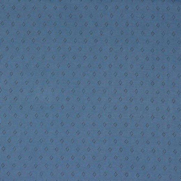 Jersey Baumwolle Pointoille Uni - col. 023 blue
