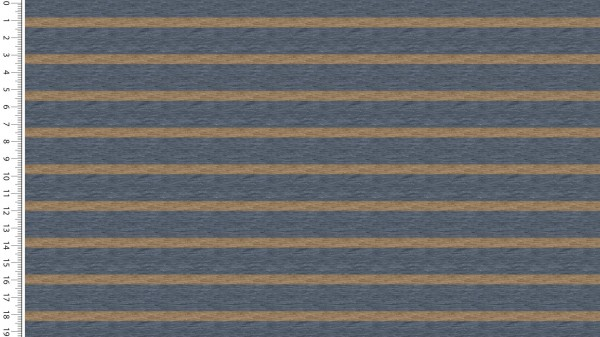 French Terry Digital Stripes - col.1701 jeans