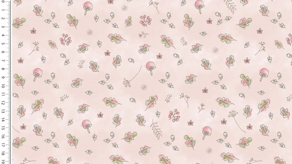 Jersey Digital Autumn Leaves - col.1613 rosa