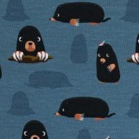 Swafing Jesse, Jersey Baumwolle, Maulwurf, jeansblau schwarz