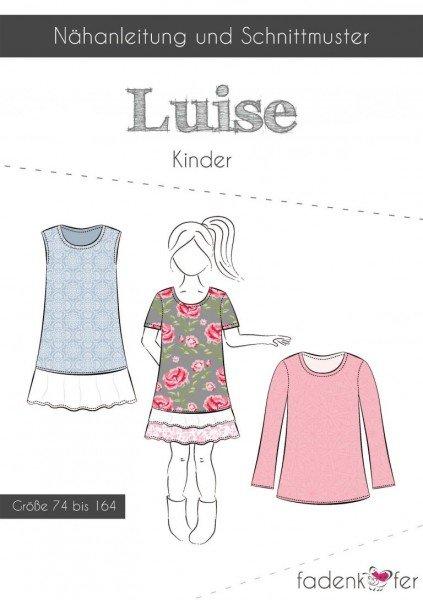 Fadenkäfer Schnittmuster Luise Shirt und Kleid Kinder