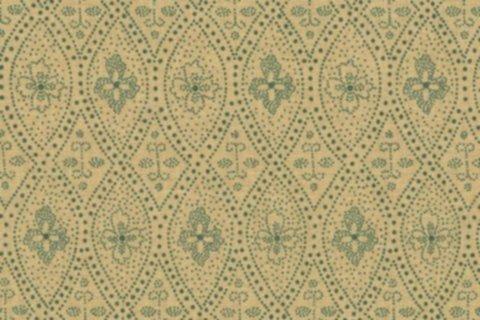 BW-Stoff Bozen Ornament sand, grün