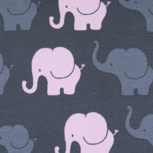 Jersey Design Elefanten Parade - col. 820 dunkelgrau