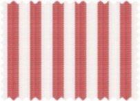 BW-Stoff Trondheim Streifen rot, weiss