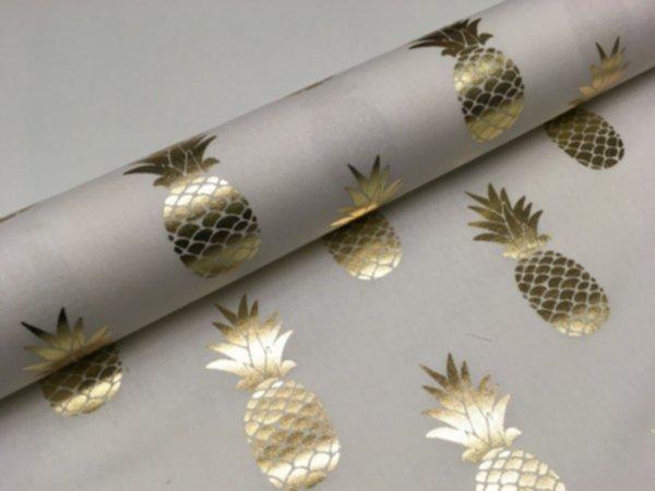 Canvas Ananas gold