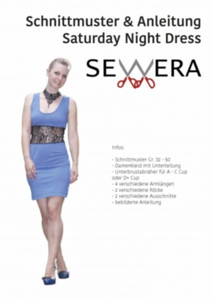 Saturday Night Dress Schnittmuster & Anleitung by Sewera