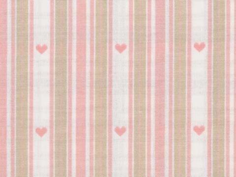 BW-Stoff Nottingham Streifen Herzen rosé-beige