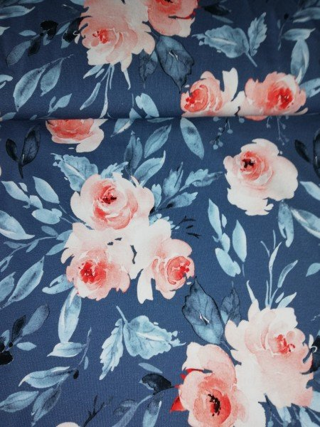 Staghorn Bio Jersey Wildblumen Smoky Blue