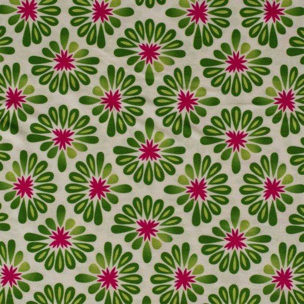 Bio Tencel Jersey Bloom, All Over, weiss-grün, Hamburger Liebe (Albstoffe)