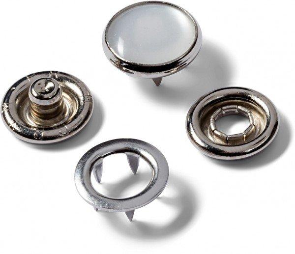 Druckknöpfe Jersey, Kappe perlmutt, 12mm
