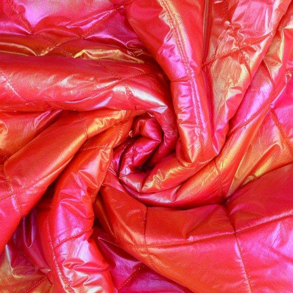 Stepper mit Fell, pink mit goldenem Glanz