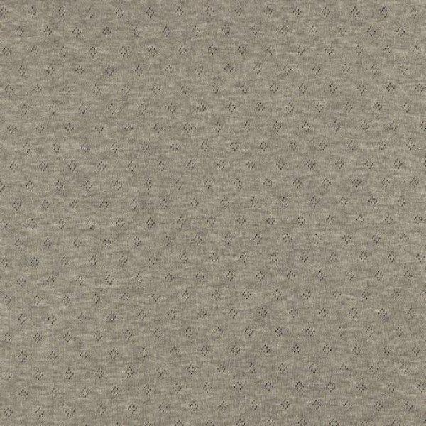 Jersey Baumwolle Pointoille Uni - col. 009 grey melange