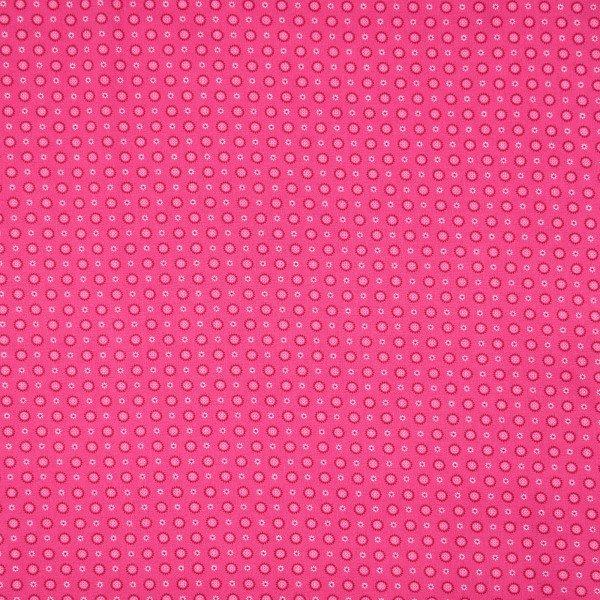 BW-Stoff Druck - Blümchen Pink - Meterware
