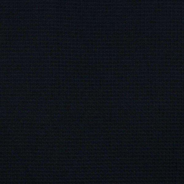 Waffel-Stoff - col. 001 schwarz