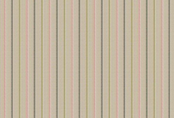 BW-Stoff Linz Streifen beige, grün, rosa