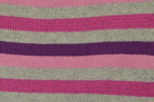 Strickstoff Streifen pink/grau/violett/rosa